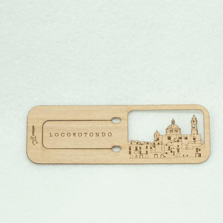 Segnalibro legno - Locorotondo - PxC Edizioni Made in Puglia