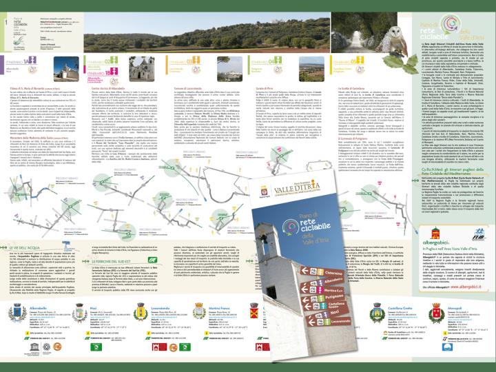 Cartoguida - rete ciclabile - Valle d'Itria - Alberobello - Locorotondo - bici - trekking - Puglia - PxC Edizioni