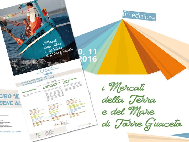 Manisfesto - Pieghevole - mercatini della terra e del mare 2016 - Torre Guaceto - Slow Food - Salento - Puglia - PxC Edizioni