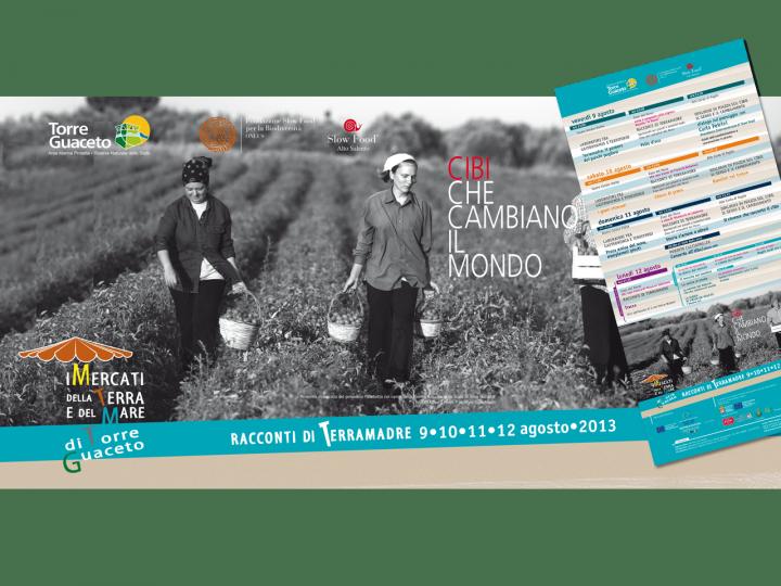Banner - manifesti - mercatini della terra e del mare 2013 - Torre Guaceto - Slow Food - Salento - Puglia - PxC Edizioni