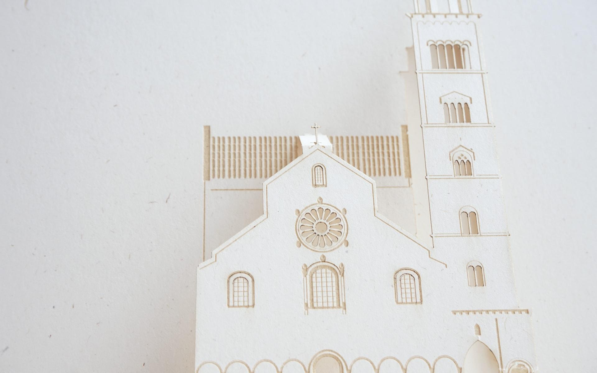 Cartolina a comparsa della Cattedrale di Trani PxC Edizioni Editoria Made in Puglia