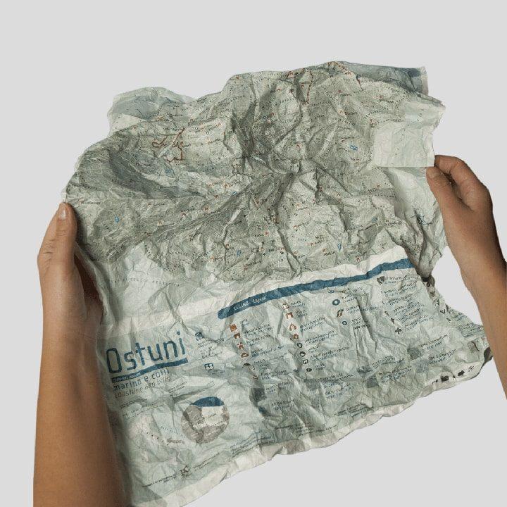 Mappa impermeabile Ostuni: marina e colli. Itinerari PxC Edizioni Editoria Made in Puglia