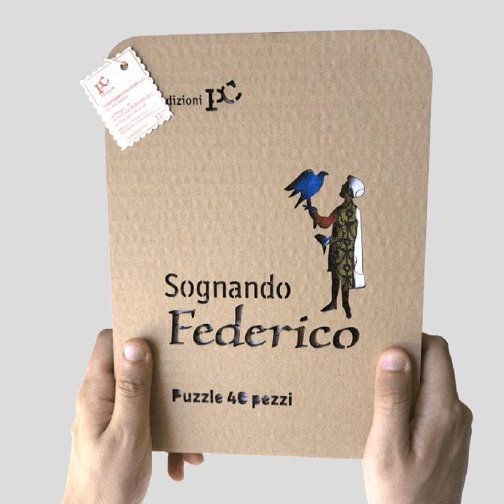 Sognando Federico - Puzzle formato da 40 pz. in cartone laserato PxC Edizioni Editoria Made in Puglia
